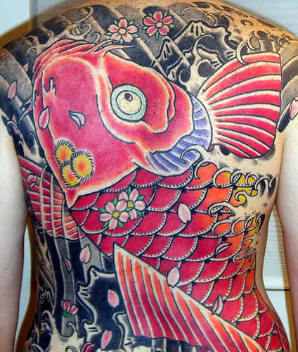 Big Red Koi Fish Tattoos Full Body