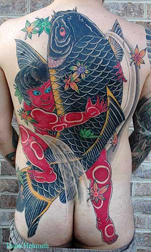 Japanese Koi Fish Tattoo for Girl (NSFW)