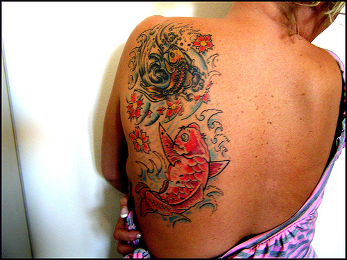 Two Koi Fish Tattoo for Women