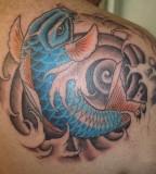 Best Koi Fish Tattoo Designs For Back Shoulder