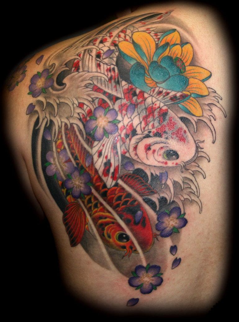 Cool Koi Fish Tattoo Designs