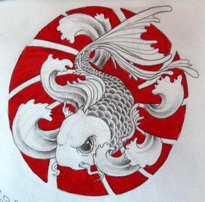 Impressive Japanese Koi Fish Tattoo Design