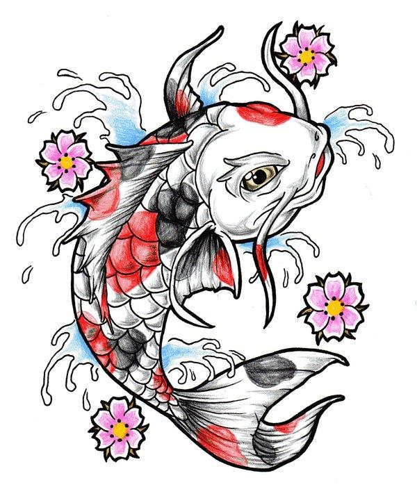 Beautiful Koi Fish Tattoo Design Idea