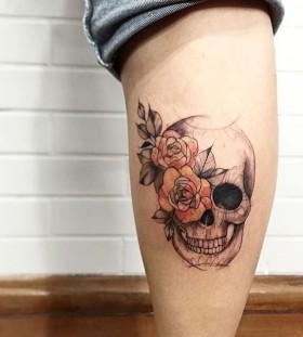 lcjuniortattoo-floral-skull-tattoo