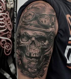 ledcoult-biker-skull-tattoo
