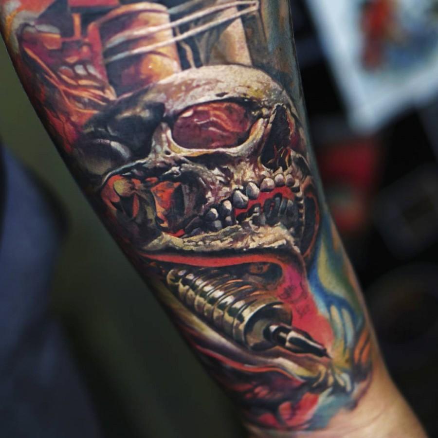 ledcoult-realistic-skull-tattoo