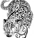 The Power Symbol Leopard Tattoos
