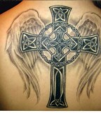 Celtic Cross Angel Tattoo For Men