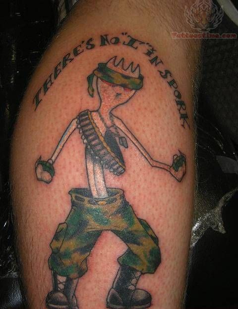 Funny Tattoo Design For Men -