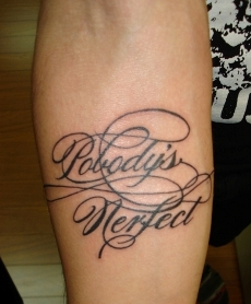 Italic Tattoos Lettering Design For Man