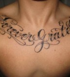 New Design Lettering Tattoo Designs On Chest For Men