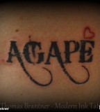 Simple Lettering Tattoos For Men 2013