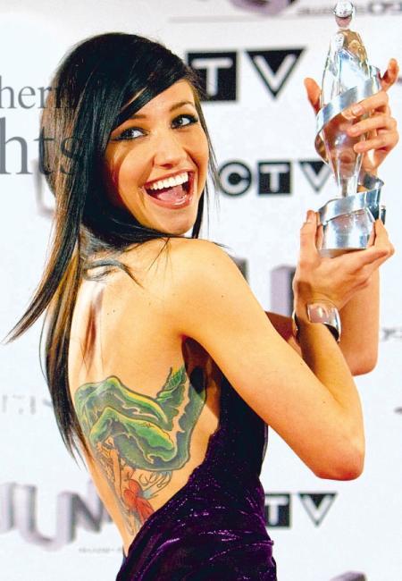 Pop Singer Lights Poxleitner Tattoo Design Pictures