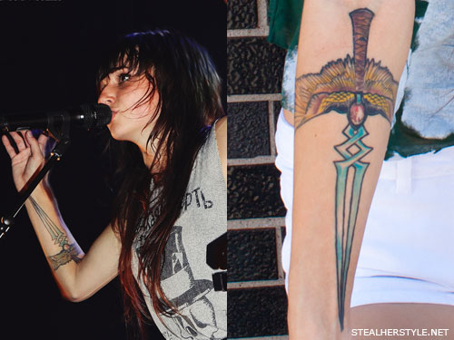 Swords Angel Tattoos Lights Valerie Poxleitner Images - | TattooMagz ...