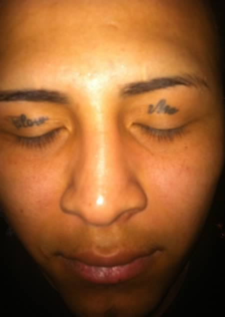 Simple Eyelid Tattoos