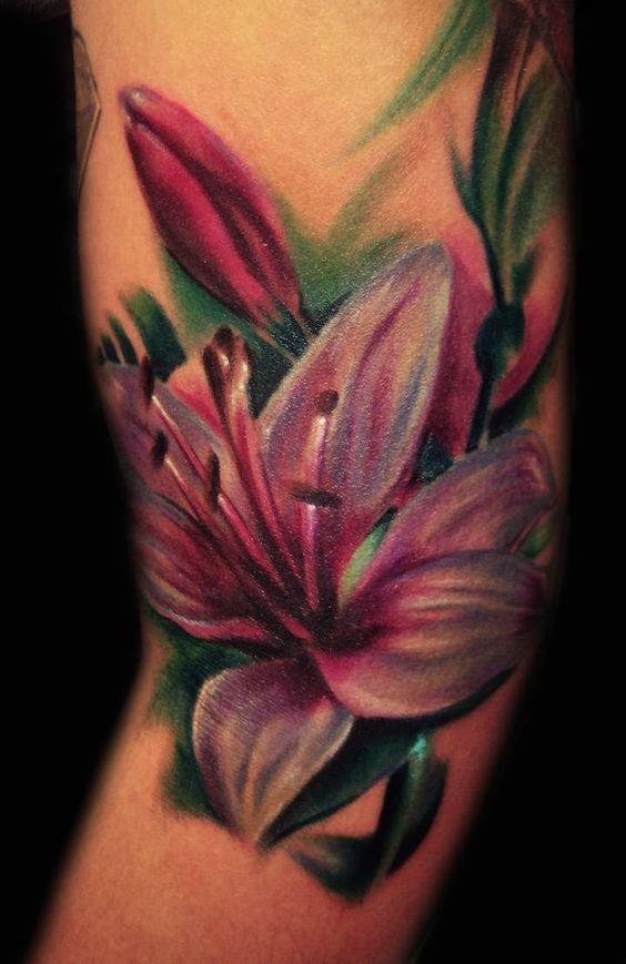 lily flower tattoo