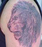 Large Lion Face Tattoo