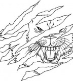 Lion Face Tattoo Draw