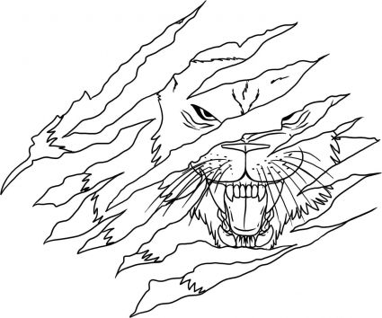 Lion Face Tattoo Draw