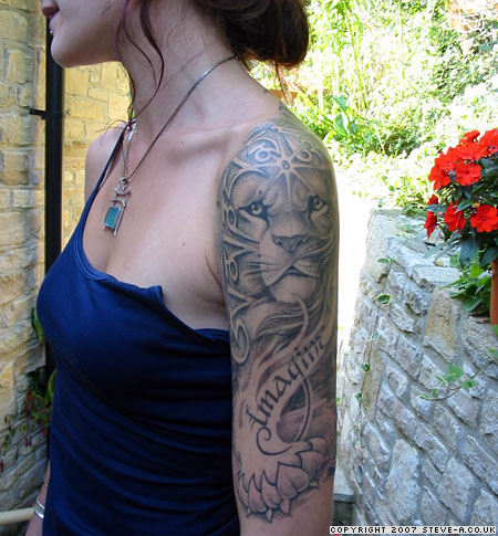 ea51748893f13 Half Sleeve Lion Tattoo Design for Woman - | TattooMagz › Tattoo ...