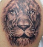 Natural Lion Tattoo