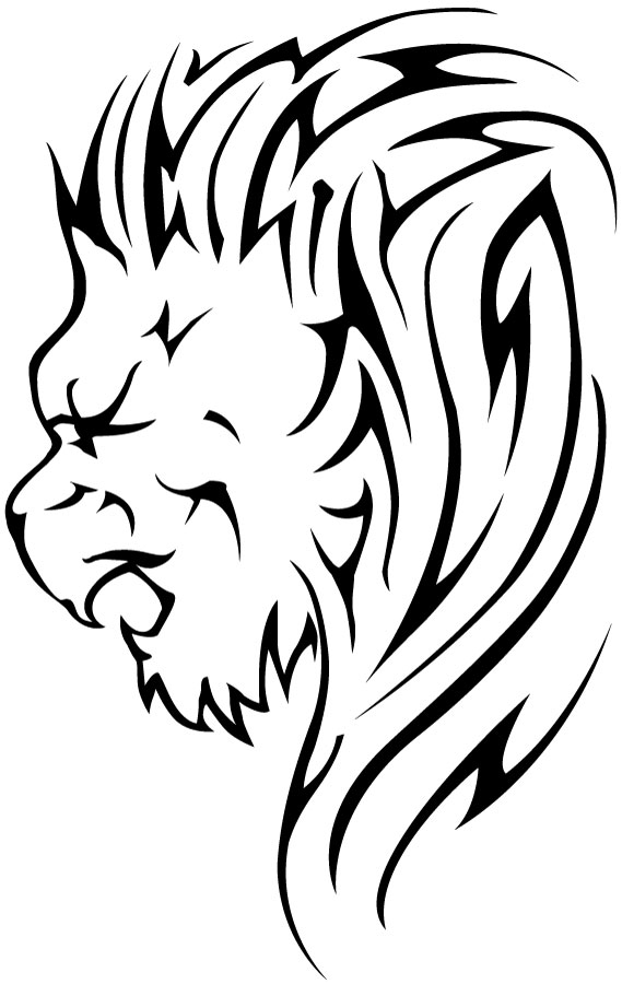 Beautiful Majestic Lion Tattoo Sketch