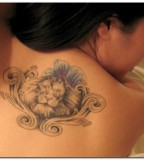 Ultimate Lion Back Tattoo