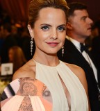Mena Suvari's Lion Tattoo on Her Back and Neck - Famous Celebrity Tattoos