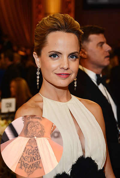 4966b863f61db Mena Suvari's Lion Tattoo on Her Back and Neck – Famous Celebrity Tattoos