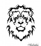 Outline Lion Tattoo Drawing - Animal Tattoo