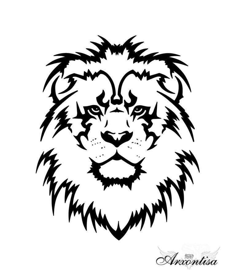 00313166f Outline Lion Tattoo Drawing - Animal Tattoo - | TattooMagz › Tattoo ...