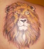 Awesome Lion Head Back-Tattoo - Animal Tattoos
