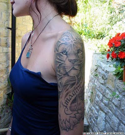 Lions Shoulder Sleeve Tattoos Designs For Women Tattoomagz