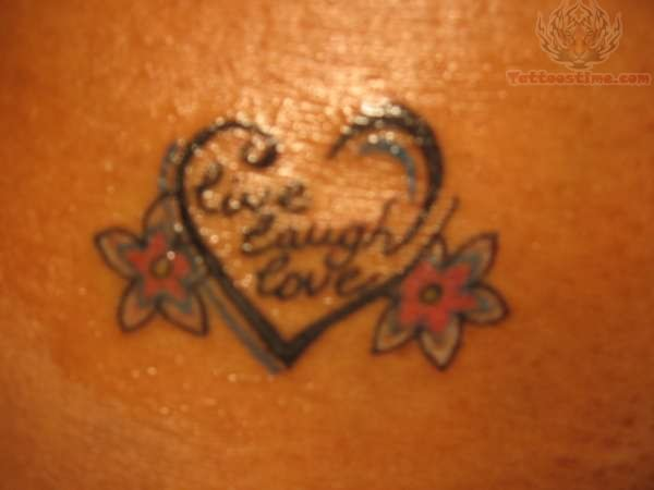 Live Laugh Love Tattoo Design Ideas