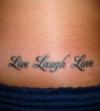 Lower Back Live Laugh Love Tattoo Design Picture