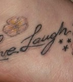 Live Laugh Love Tattoos On Foot
