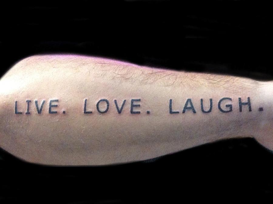 Live Love Laugh Tattoos Design