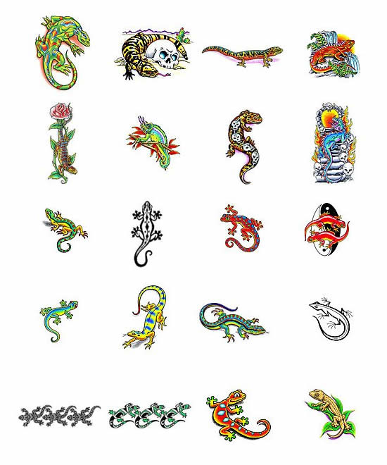 Lizard Tattoos What Do They Mean Lizard Tattoos Designs