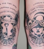 Cool Lock and Key Couples Tattoo On Forearm