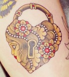 Faced Lock Tattoo for Girl