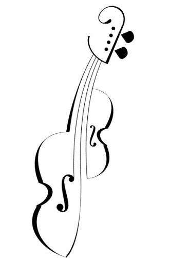 Black And White Music Tattoo Sketch