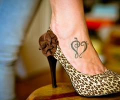 Music Love Foot Tattoo Designs