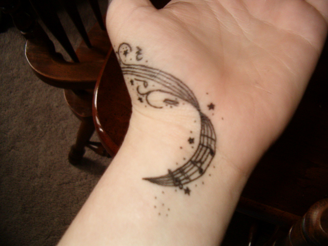 Bass and Treble Clef Tattoos
