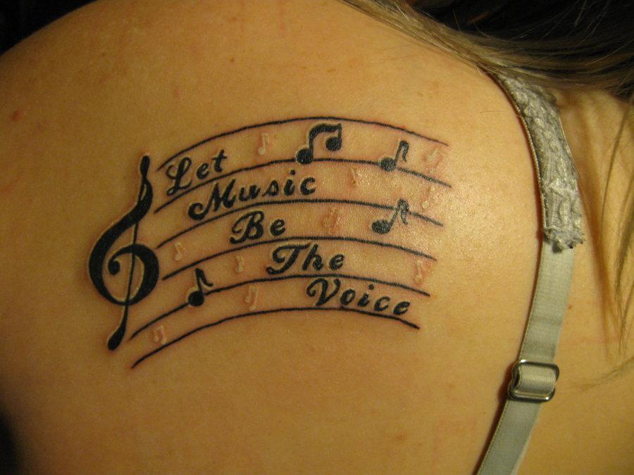 Music Notes Artbody Tattoo