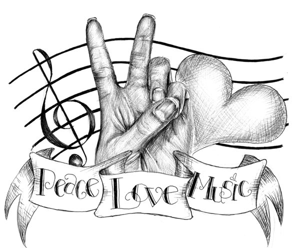 Peace Love And Music Deviantart