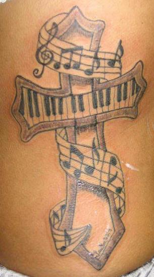 Music Notes Tattoos On Rib