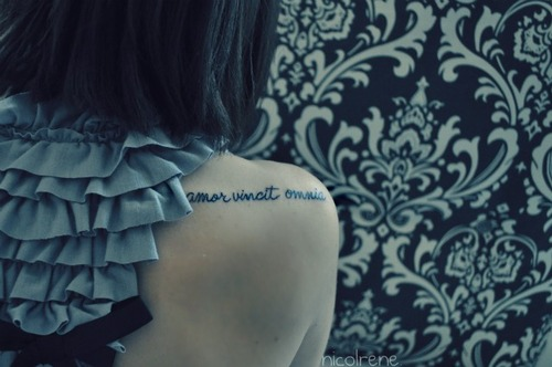 Across The Universe Tattoo On Shoulder