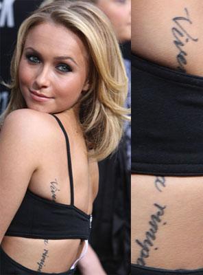 Hayden Panettiere Tattoo Photo