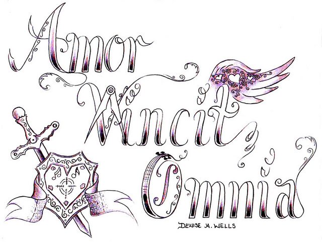 Love Conquers All Tattoo Design By Denise A Wells