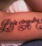 Love Conquers All Thanks To Jon At Covenant Tattoo